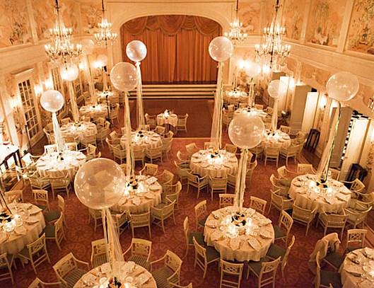 идеи украшения зала на свадьбу цветами фото