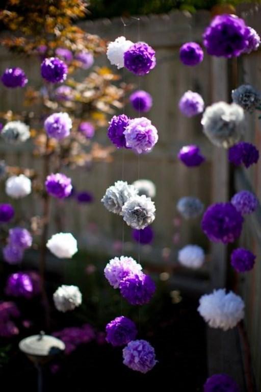 Цветы для гирлянды из гофрированной бумаги своими руками 73
