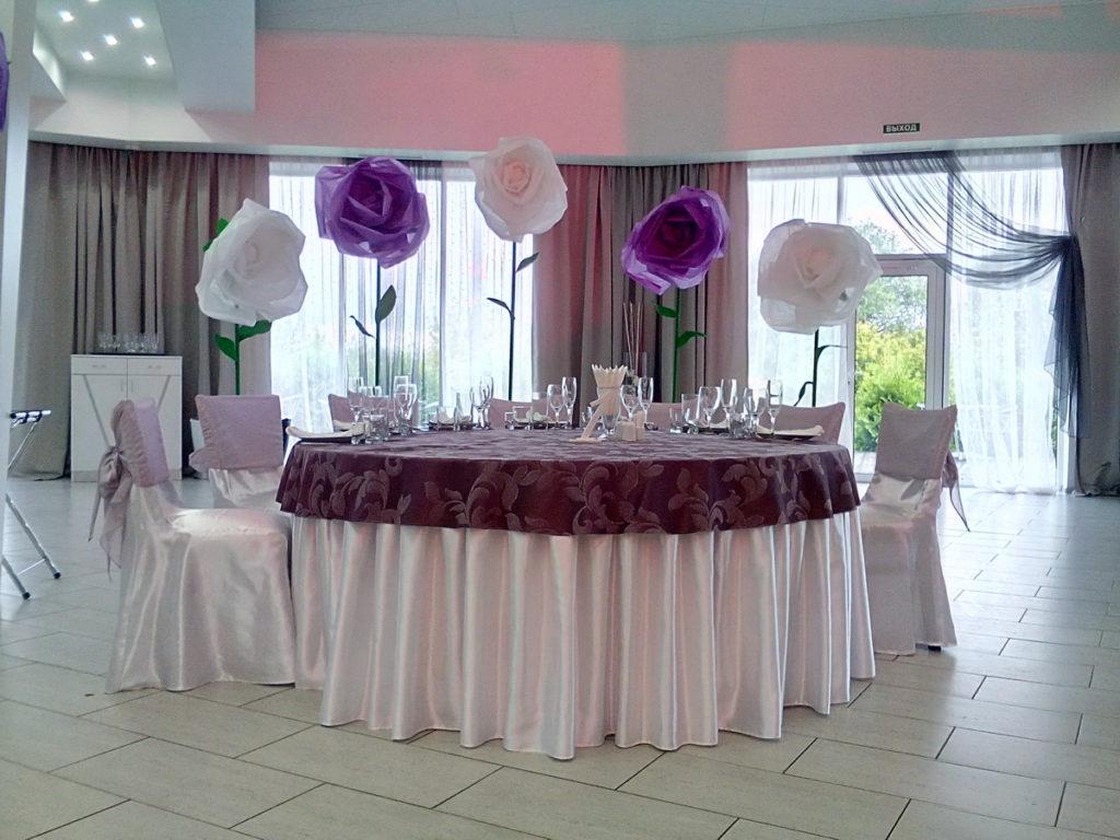 Оформление свадьбы бумажными цветами