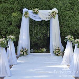 тканевые драпировки свадебной арки