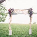 Свадебные арки цвета Марсала