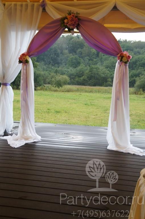 свадебная арка в отеле Планерное