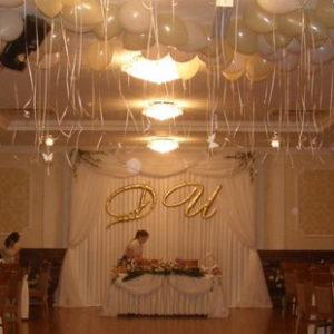 украшение свадьбы в ресторане Берендей