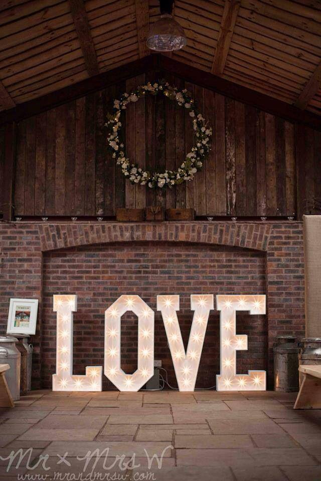 большие буквы для свадьбы