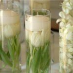 Украшение свадьбы композициями из тюльпанов