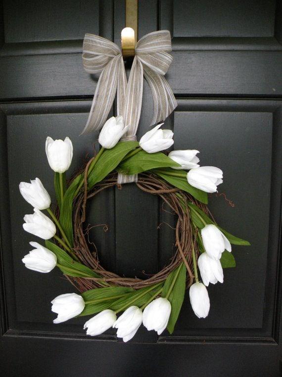 свадебный венок из тюльпанов