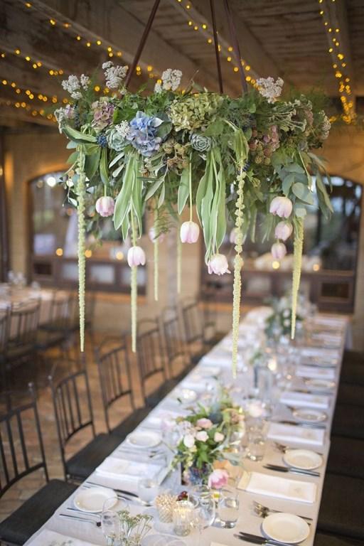 цветочная люстра с тюльпанами