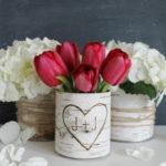 Тюльпаны на свадьбе.