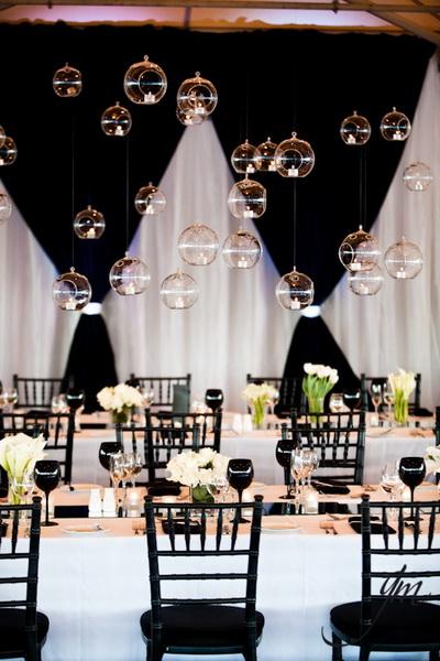 классическая черно-белая свадьба