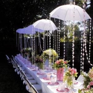 украшаем свадьбу зонтиками