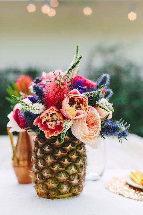 необычные свадебные вазы для цветов