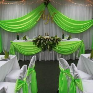 украшение свадебного зала драпировка