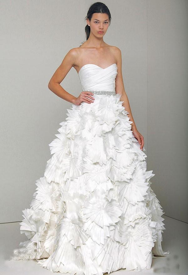 оригами платье невесты