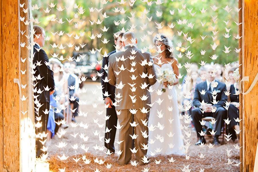 оригами украшение свадьбы