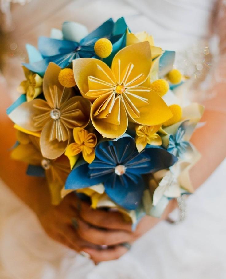 оригами букет невесты