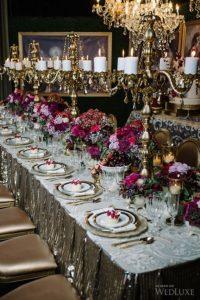 канделябр и свечи на свадьбе