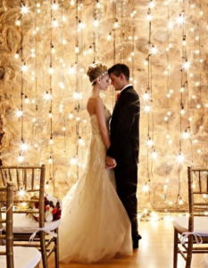 световые гирлянды на свадьбы