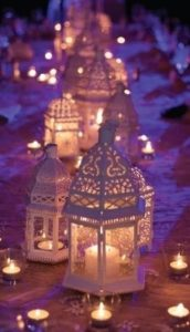 украшение свадьбы фонарями