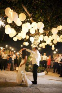 китайские фонарики на свадьбе