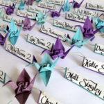 Оригами — модный декор современной свадьбы