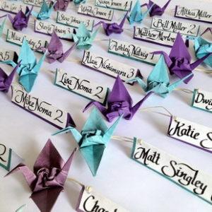Оригами для свадьбы