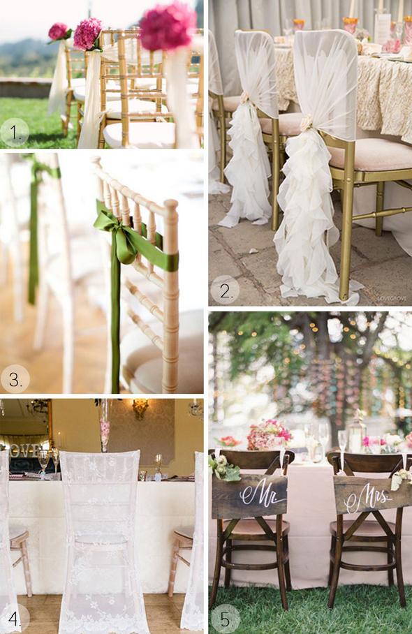 свадебное украшение стульев