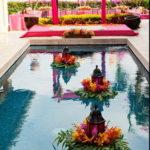Украшение бассейнов и фонтанов на свадьбах.