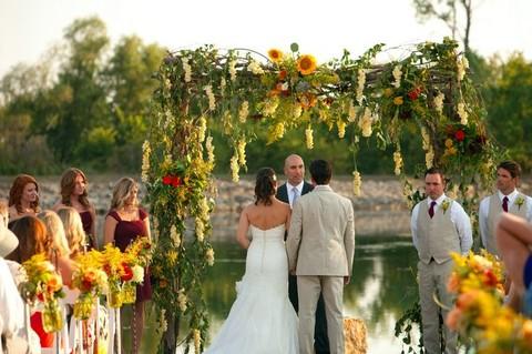 осенняя свадебная арка