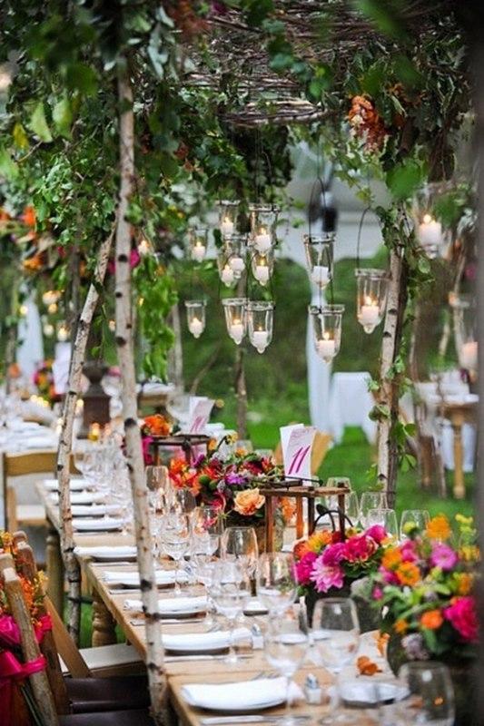 идеи украшения свадебных столов