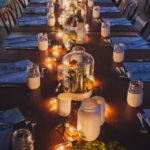 Интересные идеи украшения свадебных столов