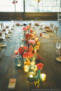 Свечи в декоре свадеб