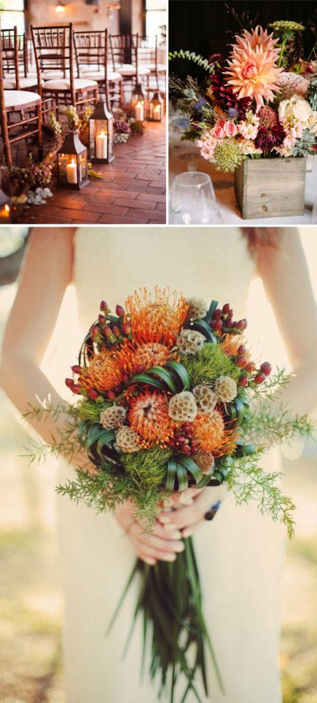 декор осенних свадеб