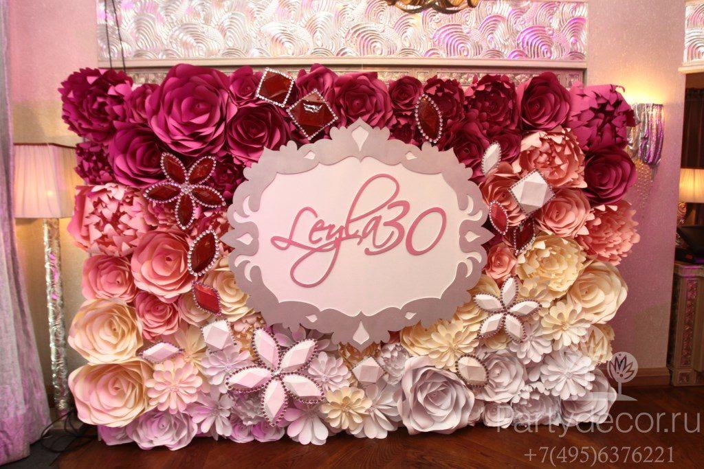 Фотозона на свадьбу из цветов