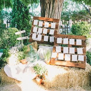 Свадебные украшения с поддонами