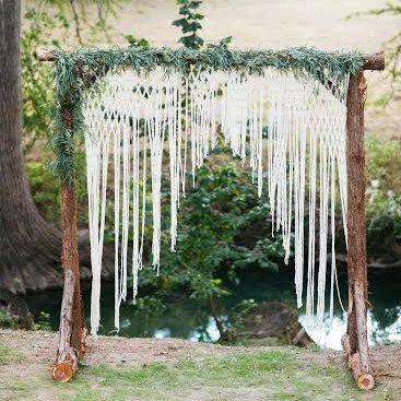 Макраме для декора свадьбы
